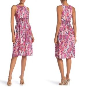 NWT Trina Turk Mao Sleeveless Geometric Print Dres